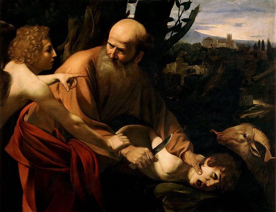 sacrifice_isaac_caravaggio_1602